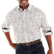 D'Amante Long-Sleeve Paisley Shirt-Big & Tall