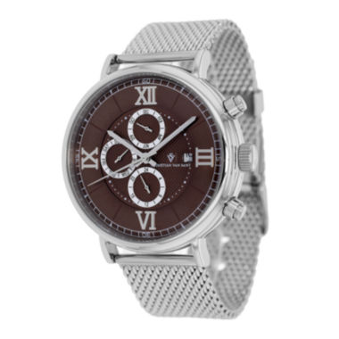 jcpenney.com | Christian Van Sant Somptueuse Mens Brown Dial and Silver-Tone Watch
