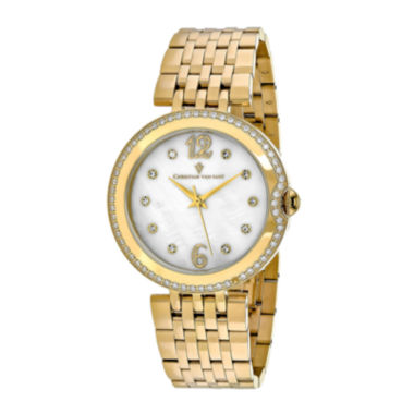 jcpenney.com | Christian Van Sant Jasmine Womens Mother-of-Pearl and Gold-Tone Bracelet Watch