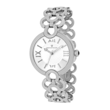 jcpenney.com | Christian Van Sant Twirl Womens White Dial and Silver-Tone Bracelet Watch