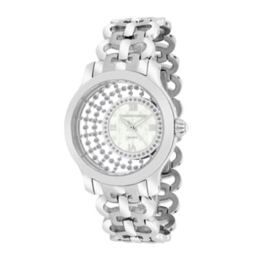 jcpenney.com | Christian Van Sant Womens Delicate White Faux Pearl Watch