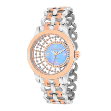 jcpenney.com | Christian Van Sant Womens Delicate Two-Tone & Purple Faux Pearl Watch