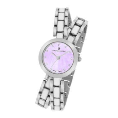 jcpenney.com | Christian Van Sant Spiral Womens Purple Dial and Silver-Tone Bracelet Watch