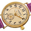 Akribos XXIV Velvet Womens Purple Leather Strap Watch