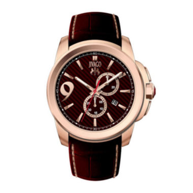 jcpenney.com | Jivago Gliese Mens Red Leather Strap Watch