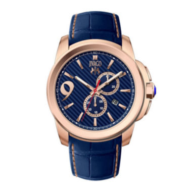 jcpenney.com | Jivago Mens Gliese Blue Leather Strap Watch