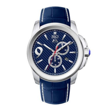 jcpenney.com | Jivago Gliese Mens All Blue Leather Strap Watch