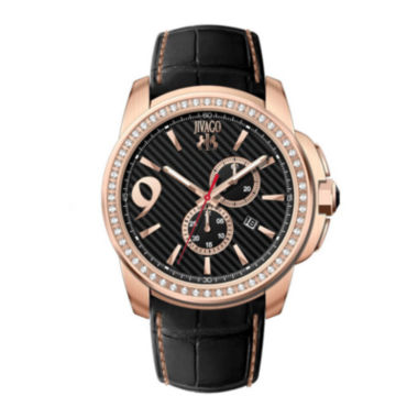jcpenney.com | Jivago Gliese Mens All Black Leather Strap Watch