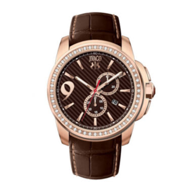 jcpenney.com | Jivago Gliese Mens Brown Leather Strap Watch