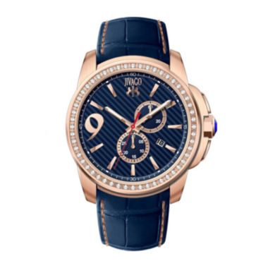 jcpenney.com | Jivago Gliese Mens Blue Leather Strap Watch