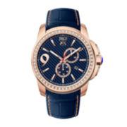 Jivago Gliese Mens Blue Leather Strap Watch
