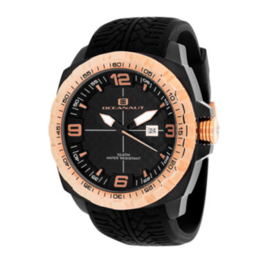 jcpenney.com | Oceanaut Mens Racer Black Silicon Strap Watch