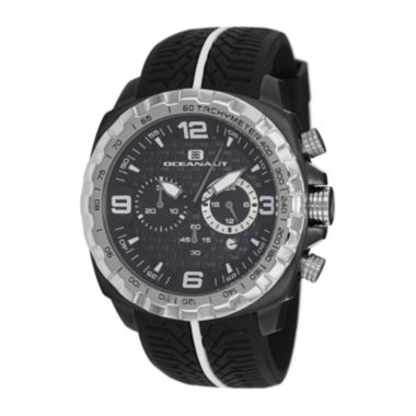 jcpenney.com | Oceanaut Mens Racer Black Chronograph Strap Watch