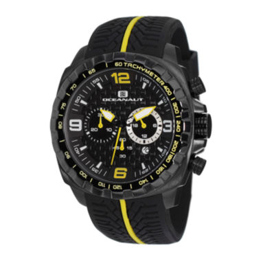 jcpenney.com | Oceanaut Racer Mens Black Silicone Strap Watch