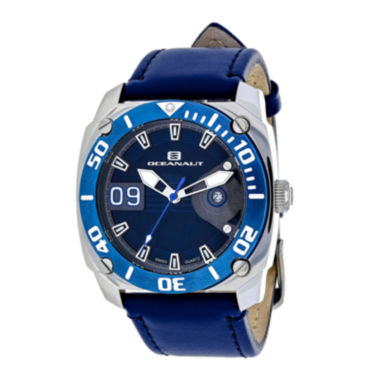 jcpenney.com | Oceanaut Mens Barletta Blue Leather Strap Watch