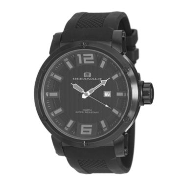 jcpenney.com | Oceanaut Mens Spider All-Black Silicon Strap Watch