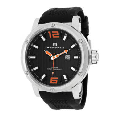 jcpenney.com | Oceanaut Spider Mens Black Dial and Black Silicone Strap Watch