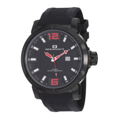 jcpenney.com | Oceanaut Spider Mens All Black Silicone Strap Watch