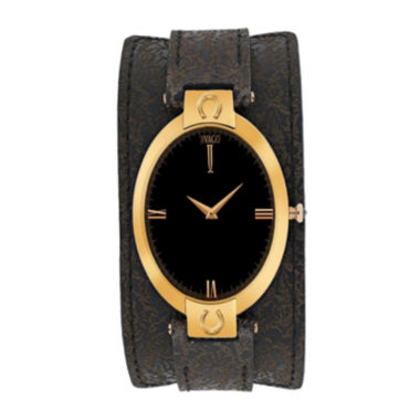 jcpenney.com | Jivago Good Luck Womens Brown Leather Strap Watch