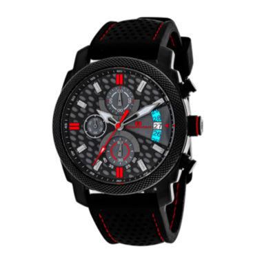 jcpenney.com | Oceanaut Kryptonite Mens Red & Black Rubber Strap Watch