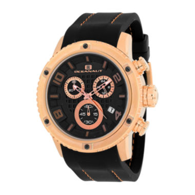 jcpenney.com | Oceanaut Mens Impulse Sport Black Silicon Strap Chronograph Watch