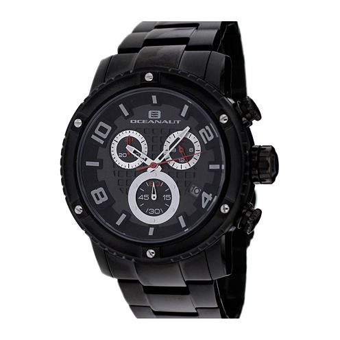 Oceanaut Mens Impulse Black Stainless Steel Bracelet Watch