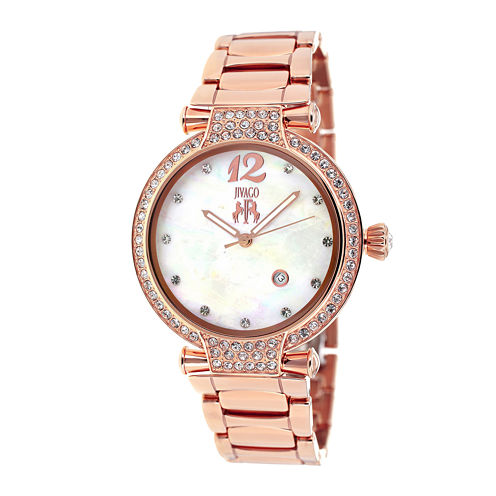 Jivago Womens Bijoux Faux Pearl Bracelet Watch