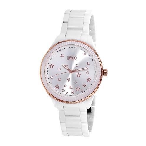 Jivago Womens Sky White & Silver Bracelet Watch