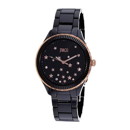 Jivago Womens Sky Black Bracelet Watch