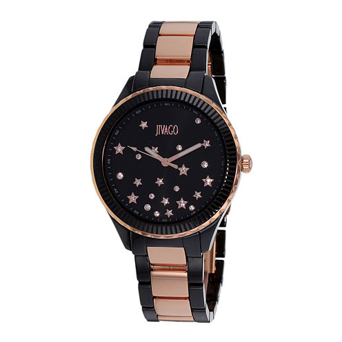 Jivago Sky Womens Black Ceramic Bracelet Watch