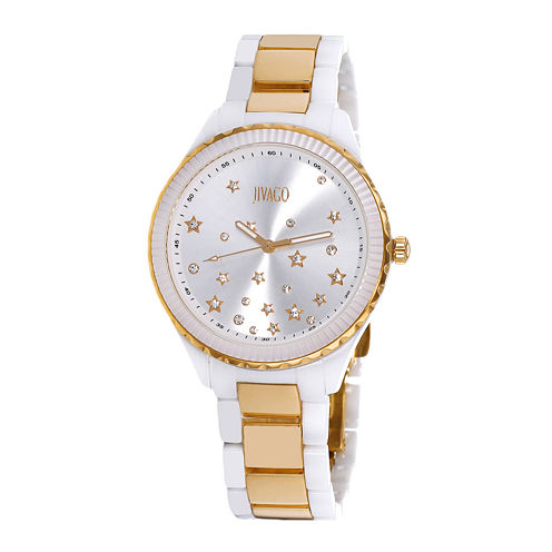 Jivago Sky Womens White Ceramic Bracelet Watch