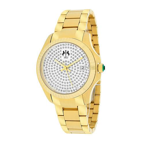 Jivago Jolie Womens Gold-Tone Stainless Steel Bracelet Watch