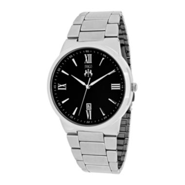 jcpenney.com | Jivago Clarity Mens Black Dial and Silver-Tone Stainless Steel Watch