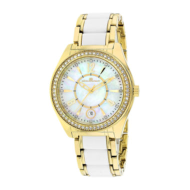 jcpenney.com | Oceanaut Pearl Womens Mother-of-Pearl Dial and Gold-Tone Bracelet Watch