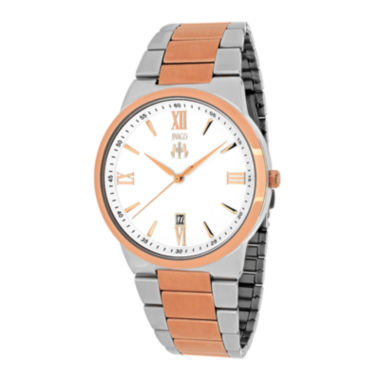 jcpenney.com | Jivago Clarity Mens Silver-Tone Dial and Rose-Tone Bracelet Watch