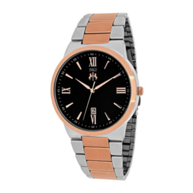 jcpenney.com | Jivago Clarity Mens Black Dial and Rose-Tone Bracelet Watch