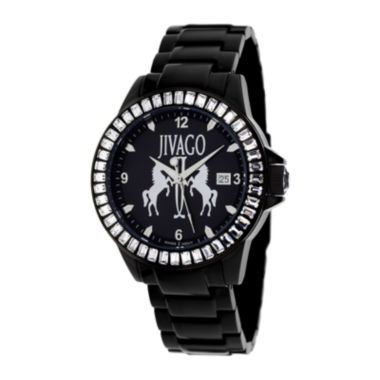 jcpenney.com | Jivago Womens Folie Black Bracelet Watch