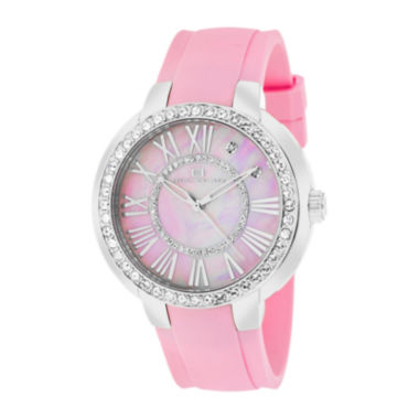 jcpenney.com | Oceanaut Womens Allure Pink Faux Pearl Dial Pink Rubber Strap Watch