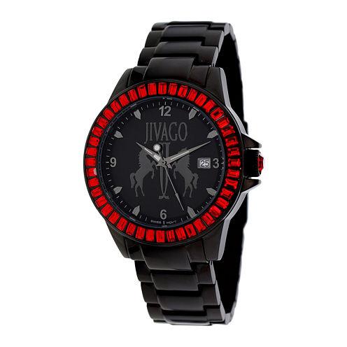 Jivago Womens Folie Black Stainless Steel Bracelet Watch