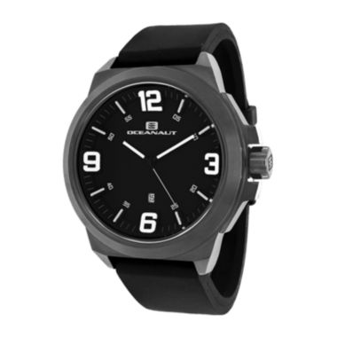 jcpenney.com | Oceanaut Mens Armada Black Rubber Strap Watch