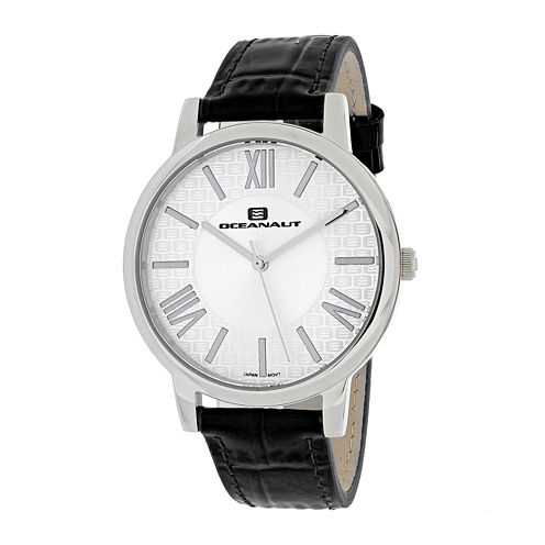 Oceanaut Moon Womens White Dial and Black Leather Strap Watch