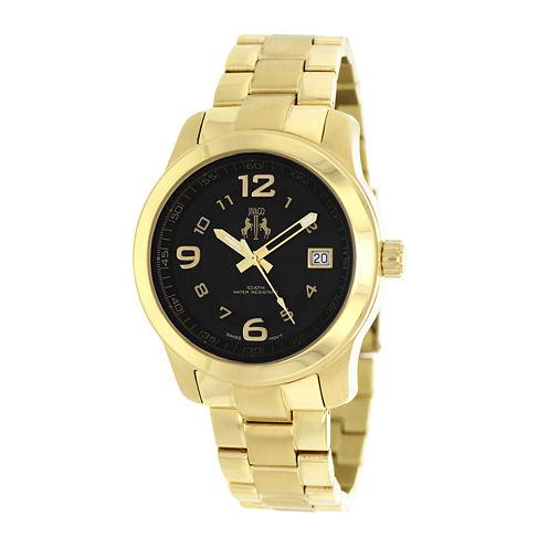 Jivago Infinity Womens Gold-Tone Bracelet Watch
