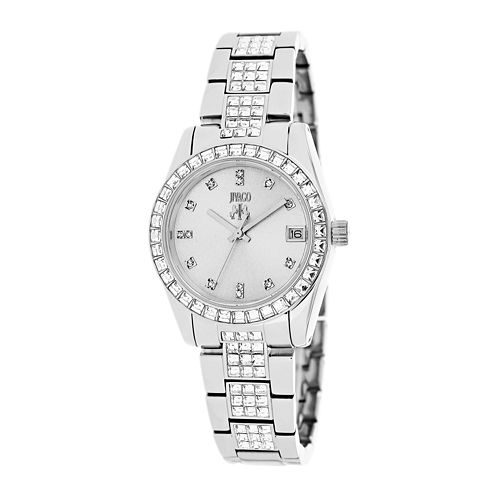 Jivago Magnifique Womens Silver-Tone Stainless Steel Strap Bracelet Watch