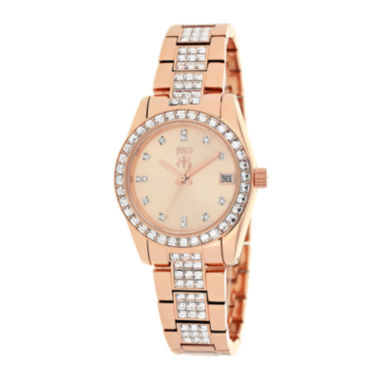 jcpenney.com | Jivago Magnifique Womens Rose-Tone Stainless Steel Strap Bracelet Watch