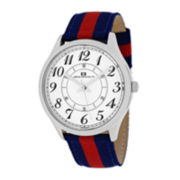 Oceanaut Classic Mens White Dial Red Strap Watch