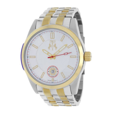 jcpenney.com | Jivago Rush Mens Silver-Dial Two-Tone Stainless Steel Bracelet Watch