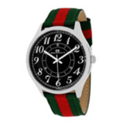Oceanaut Classic Mens Black Dial Green Strap Watch