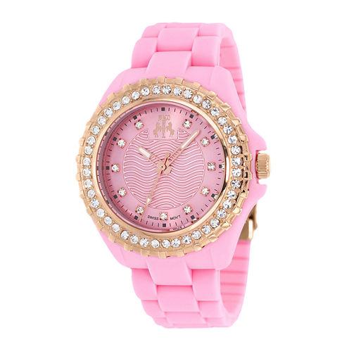 Jivago Cherie Womens Pink Silicone Strap Bracelet Watch
