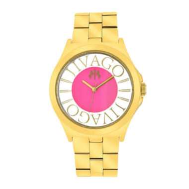 jcpenney.com | Jivago Fun Womens Pink & Rose-Tone Stainless Steel Bracelet Watch