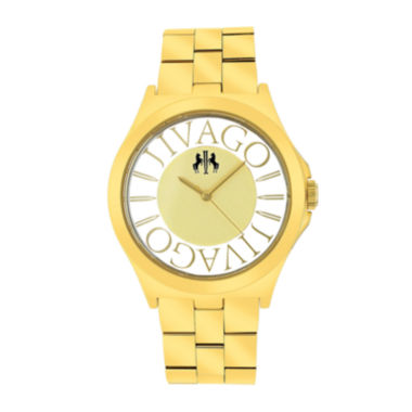 jcpenney.com | Jivago Womens Gold Tone Stainless Steel Bracelet Watch